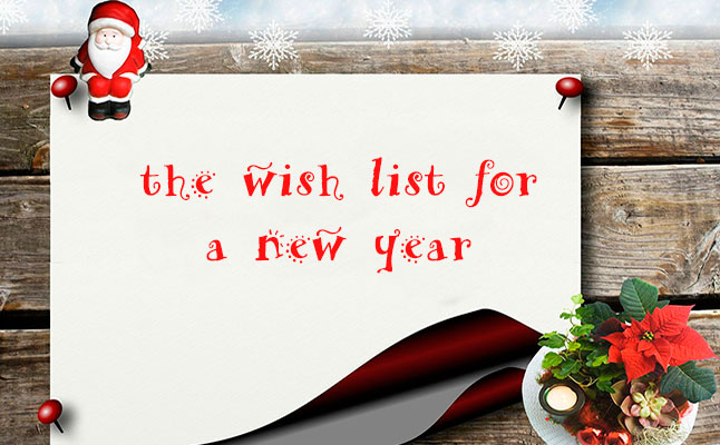 The wish list for a new year